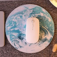Wholesale earthing pads for sale - Group buy Etmakit Hot Sale Planet Series Mat x x mm Circular Mouse Pad With Style Earth moon swan Lotus