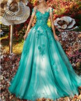 Wholesale turquoise runway carpet resale online - 2020 Turquoise A Line Off Shoulder Prom Dresses robe marriage Formal Evening Dress Party Wear Backless Lace Plus Size