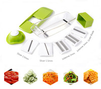 Wholesale multifunctional manual vegetables resale online - Birthday Party Slicer Manual Vegetable Cutter With Blades Multifunctional Vegetable Cutter Potato Onion Slicer Kitchen Accessories
