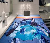 ingrosso decalcomanie del delfino-[Autoadesivo] 3D Dolphin 1559 Floor Wallpaper Mural Wall Print Decalcomanie da muro