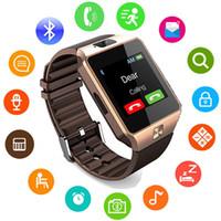 gsm tela livre venda por atacado-Dz09 bluetooth smart watch suporte sim tf cartão de relógio de pulso da câmera anti-lost wearable q18 gt08 smartwatch para ios android phone retail box