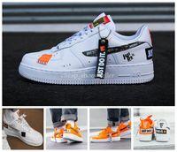 ingrosso mens arancione scarpe da tennis-nike air force one shoes 2019 Air Just Do it Scarpe da corsa da uomo 1 Scarpe da ginnastica da donna Utility Skateboard da sport di marca Forced One Sport Sneakers firmate White Orange