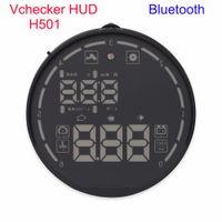ingrosso visualizzazione del hud dell'automobile del bluetooth-2016 Original VCHECKER HUD H501 Universale di OBD Bluetooth Car HUD Sistema VCHECKER Head Up Display con TPMS Auto Diagnostic Tool