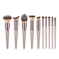 Wholesale beauties factory brushes resale online - Factory Price Beauty Tools Synthetic Soft Brushes cosmetic makeup brush set