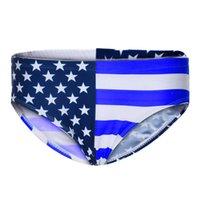 флаг плавать оптовых-Feitong Летние мужские трусы Sexy American Flag мужские г-нити сексуальное белье для геев гладкое Плавание Нижнее белье # y25
