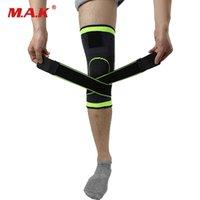 tejidos profesionales al por mayor-1 unid 3D Weaving Presurización Rodillera Brace Baloncesto Tenis Senderismo Ciclismo Apoyo de rodilla Profesional Protector deportivo Pad # 156767