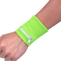 ingrosso portafogli a bracciale-Zipper polso del sacchetto del raccoglitore sport correnti sacchetto del braccio band Per Key Card MP3 Storage Bag Caso Wristband Parasudore # 0626