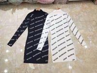 Wholesale korean skirt dress winter autumn for sale - Group buy Letter jacquard ladies long skirt autumn and winter new Korean fashion high end outer wear base long knit skirt