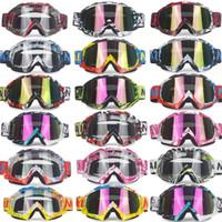 óculos claros atv venda por atacado-Óculos de marca Dirt Bike ATV Cross Riding Ski Fox Motocross Óculos Motor para Motocicleta UV Ski Snowboard Goggles Lens Lens Clear