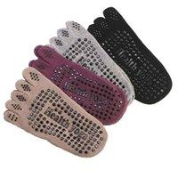 ingrosso piede di yoga-Calze di cotone Yoga antiscivolo Pilates traspirante invisibile Yoga Five Finger calzini sport per cura di piede Strumenti 4colos RRA1588