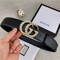 Wholesale monogram alloy for sale - Group buy 2019 new monogram bead smooth buckle fashion designer leather women s and men s high quality denim leather belts
