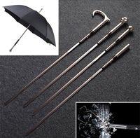 dibujo de paraguas al por mayor-Cuatro estilos de metal espada paraguas autodefensa mango largo paraguas creativo colección de regalos paraguas masculino