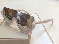 Wholesale 0296 S Pearls Pink Mirror Pilot Sunglasses Glasses Designer Sun glasses women gafa de sol uv400 protection eyewear Shades New With Box