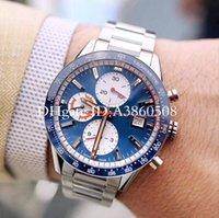 mann quarz armbanduhr groihandel-Top Brand Chronograph VK Quarz Herrenuhr Gute Qualität 43 MM Sport Mann Stahlband Armbanduhren