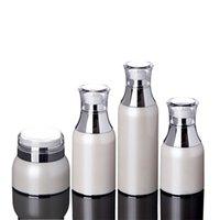 ingrosso bottiglie di pompa del siero-Flacone di crema per vuoto vuoto acrilico 30g 50g, flacone per pompa per lozione per il viso siero per occhi liquido 30/50/100 / 120ml F2409
