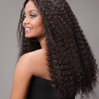 Wholesale synthetic afro kinky weave for sale - Afro Curly Wigs Ladies Burgundy Fashion Loose Kinky Curly Virgin Hair Heat Resistant Synthetic Hair Weaving Africa Virgin Hair Wigs