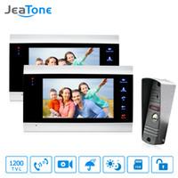 gegensprechanlagen großhandel-JeaTone 7 Zoll Best Intercom Systems Wohnimmobilien Gewerbliche Home Security Video-Türsprechanlage Intercom Kit Türsprechanlage Kostenlose Garantie