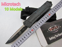 Wholesale blade s resale online - Special Offer Styles Microtech Troodon Scarab S E Best Automatic Knife Marfione Custom Troodon knives Halo v A07 Gift Knife UT Knives