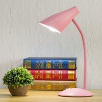 led espiral e27 al por mayor-Lámpara de escritorio LED de lectura Protección para el ojo de aprendizaje Luz creativa Lámpara reemplazable E27 Puerto de espiral Estudio Dormitorio Lámpara de escritorio