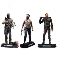 Wholesale walking dead figures resale online - NEW hot cm The Walking Dead Season Rick Grimes Daryl Dixon Negan action figure toys collector Christmas gift doll with box SH190911