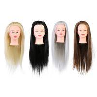 modelos de bonecas de manequins venda por atacado-Mulheres Salão de Cabeleireiro Profissional Cosmetologia Cabeleireiro Prática Bonecas Manequim Salão de Treinamento Modelo de Modelagem de Cabelo Ferramentas
