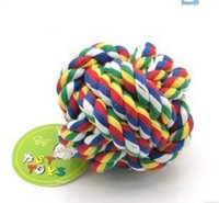 Wholesale string cleaning online - Pets Toys Double Color Cleaning Cotton String Gogo A Molar Tooth Cleaning Toys Tuba cm