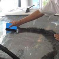 ingrosso utensili da finestra-Lavavetri Strumento per pellicola per auto Vinile Blu Scraper in plastica Tergipavimento con bordo in feltro morbido Adesivo per decalcomania di vetro per finestre Spedizione gratuita