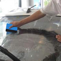 Wholesale car tools free shipping resale online - Squeegee Car Film Tool Vinyl Blue Plastic Scraper Squeegee With Soft Felt Edge Window Glass Decal Applicator