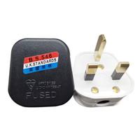 elektrischer verstärker großhandel-Schwarz Weiß 3-poliger UK-Stecker 13A 13-AMP-Gerätesteckdose Sicherungsadapter Haushaltsgebrauchszwecke