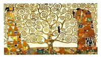 impresiones de la pared de la vida del árbol al por mayor-Gustav Klimt Tree of Life Home Wall Art Decor pintado a mano HD Print pintura al óleo sobre lienzo Wall Art Canvas Pictures 190902