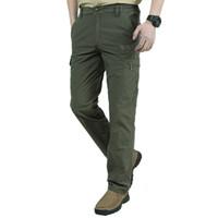 armee trikot casual mann großhandel-Quick Dry Casual Pants Herren Sommer Army Military Style Herren Tactical Cargo Pants Herren Leichte wasserdichte Hose