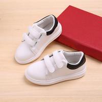 erkek kızlar gündelik beyaz ayakkabılar toptan satış-Beyaz PU Ayakkabı Çocuklar Kız Erkek Loafer'lar Için 2019 Bahar Çocuk Yürüyor Boy Ayakkabı Çocuk Rahat Sneakers # 7