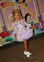 fotos hellgelbe blumenmädchenkleider groihandel-Eden Wood Lavender Mädchens Pageant Kleid Vintage Party Cupcake Kleider Blumenmädchen Hübsches Kleid für Kinder