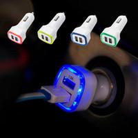 sortie de l'adaptateur secteur achat en gros de-Auto Universal USB 2.0 Ports Affichage à LED Chargeur de voiture Pratical Automotive 2.1A LED USB Facile à utiliser Double chargeur de sortie