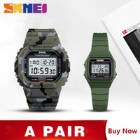 Wholesale setting alarm clocks resale online - SKMEI Sport Men Kids Watch Fashion Stopwatch Wrist Watches For Mens Boy Girls Digital Alarm Clock montre homme Set