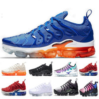 Wholesale shoe online - 2019 TN Plus Game Royal orange USA Tangerine mint Grape Volt Hyper Violet trainers Sports Sneaker Mens women Designer running shoes