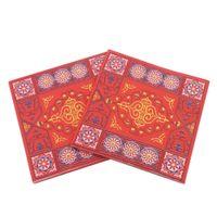 servilletas de impresión al por mayor-20 piezas nueva impresa Eid al-Fitr Eid Mubarak servilleta impresa para la decoración del Ramadán servilletas Islam 33x33cm toallas suministro caliente