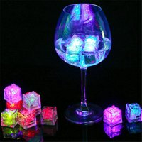 Wholesale party supplies glasses for sale - Group buy HaoXin LED Ice Cubes Glowing Party Ball Flash Light Luminous Neon Wedding Festival Christmas Bar Wine Glass Decoration Supplies