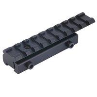 11 mm askı toptan satış-11mm için 20mm Weaver Rail Dağı Bankası Adaptörü Kırlangıç Kapsam Dağı Dönüştürücü Lazer Sight