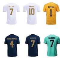 yankees jerseys majestuosos al por mayor-19 20 camiseta de peligro real madrid camisetas de futbol BALE KROOS MODRIC camiseta de fútbol local visitante tercer portero camisetas de fútbol uniformes de portero