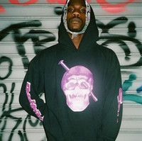 suéter de design para homens venda por atacado-19SS Big V Violeta Com Capuz Para A Camisola Moda Esqueleto Humano Parafuso Cabeça Screwhead Oversize Hip Hop Algodão Homens Camisola De Design HFWPWY136