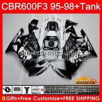 Body +Tank For HONDA CBR 600F3 600CC CBR600 F3 95 96 97 98 41HC.0 CBR 600 FS F3 CBR600FS CBR600F3 1995 1996 1997 1998 Fairing Graffiti black