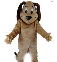 maskot kostüm başları satışı toptan satış-Fabrika satış sıcak 'TAN KÖPEK MASCOT HEAD Kostüm Hayvan Tema Kostümleri ücretsiz kargo