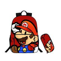 mochilas escolares mario al por mayor-Nueva Super Mario School Laptop Mochila Niños Niñas Bolsas escolares Mochila para niños Bolsas diarias Bonnie Mario Mochilas