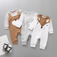 Wholesale newborn clothes sale resale online - Hot Sale Newborn Cartoon Animal Cotton Romper boutique long sleeve printed jumpsuit Baby Clothes
