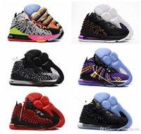 женская баскетбольная обувь продажа оптовых-2019 lebron 17 shoes Новый конструктор женского 17 баскетбол обуви для продажи Молодых детей XVII Будущего Белого Оранжевого Джеймс 17s Дизайнера кроссовок 36-39