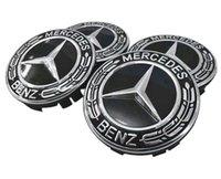 ingrosso coprimozzo centrale benz-4 pezzi centro coprimozzi Mercedes Benz coprimozzo centro mozzo 75mm
