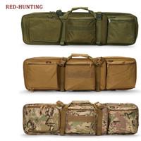 naylon taşıma çantası toptan satış-Taktik 85 cm Tüfek Sniper Taşıma çantası Gun Çanta Naylon Çift Paketi Airsoft Avcılık Siyah # 42506