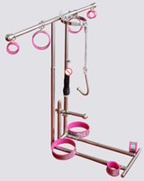 Stainless Steel Kneeling SM Bondage Force to kneel training device with anklet cuffs collar thigh cuff dildo anal hook harness sex furniture