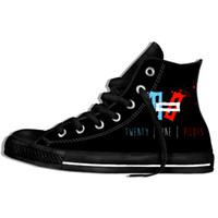 Wholesale canvas shoes punk resale online - Twenty One Pilots D Men Women Summer Fashion Band Twenty One Pilots Logo Harajuku Casual Punk Lightweight Shoes